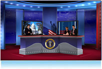 2008 us presidential election virtual news set 3d studio tv hdtv candidate