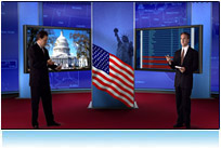 virtual news set presidential election 3d studio hdtv America Votes debates