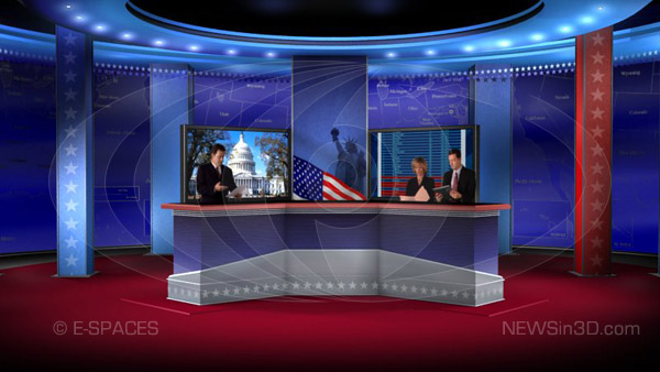 tv Production Set News Set 3d Studio tv Hdtv