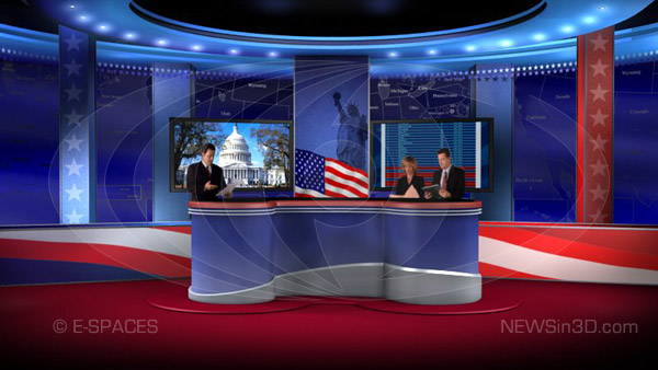 Election 2008 Presidential Virtual Set HD, Animated Background ...