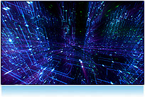 Blue electricity lights seamlesly looping in 3d animation background for hdtv