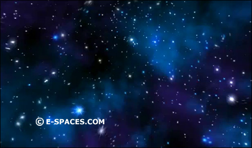 Flight through starfields this looping animation is prerendered and
