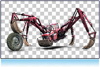 Tractor Spider Crab, funny pictures cars photorealistic agricultural urban digital character