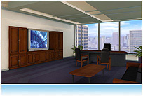 Virtual Office -- 3D Virtual Real Estate For Business. Qwaq, Second life, ActiveWorlds, Caneva