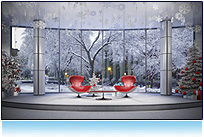 Christmas virtual news set 3d studio tv hdtv xmas