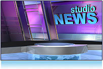 News Virtual Studio Set