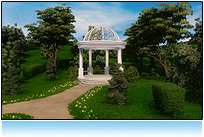 romantic gazebo, Outdoor 3d animation
