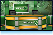 Sport virtual news set 3d studio tv hdtv olympic games