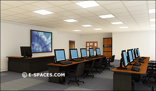 Modern Day Classroom Design ~ Virtual sets d computer animation green blue chroma key