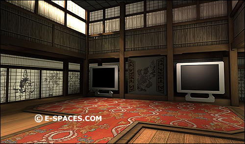Matrix Style Dojo Room For Yoga Lessons Or Other Zen Oriented Shows