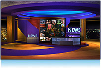 World News -- A dynamic twist on classic TV newsrooms